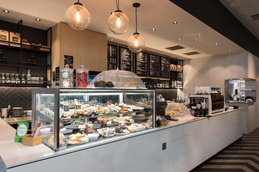 The Coffee Club Bayfair counter