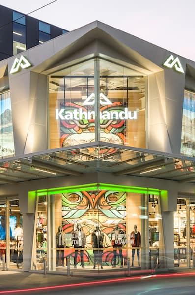 Store frontage of Kathmandu Christchurch